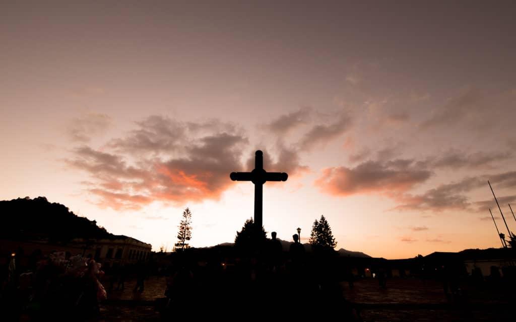 Cruz en la Plaza de la Paz de San Cristobal de Las Casas