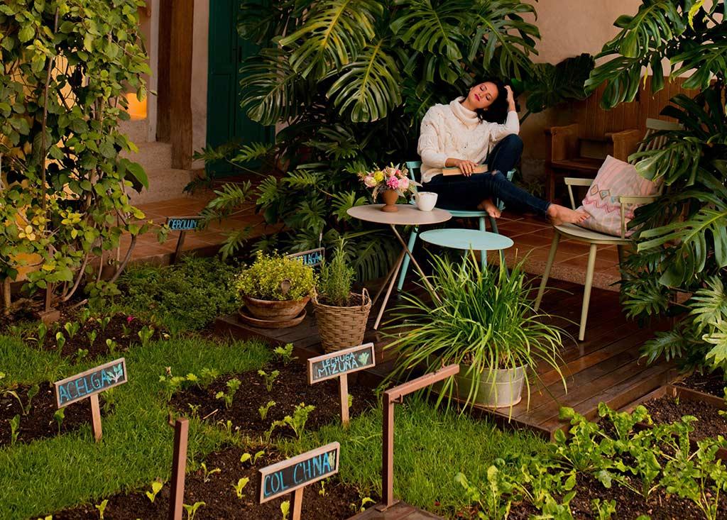 hotel sustentable casa lum huerto