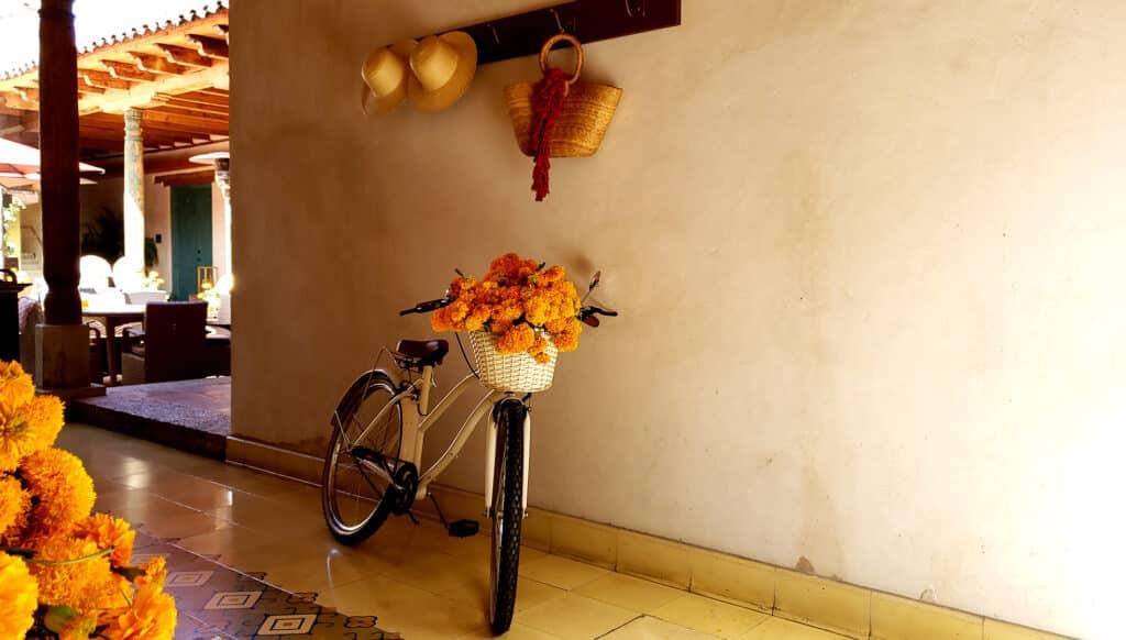 día de muertos bicicleta decorativa